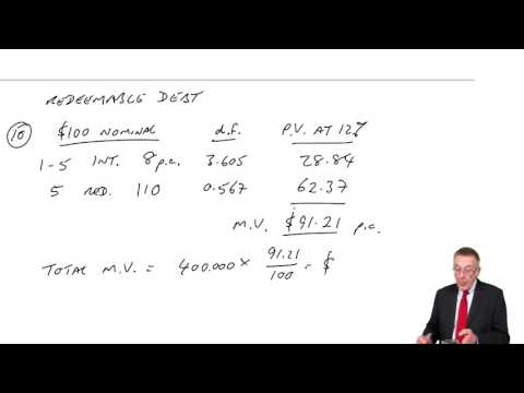 ACCA F9 The valuation of securities - The valuation of debt