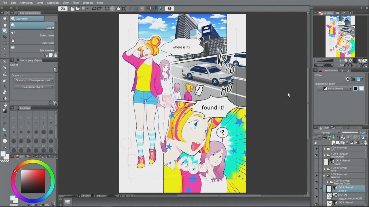 Let\'s create a manga : Coloring a manga - YouTube