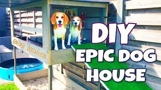 DIY Dog House with Pool , Sandbox and Dog Lounge | Louie The Beagle