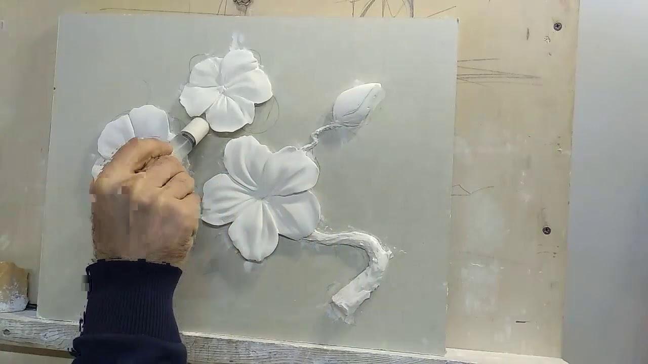 """Барельеф """"цветки сакуры"""" 2 урок"""