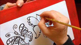 How to draw a butterfly step by step. Part 2