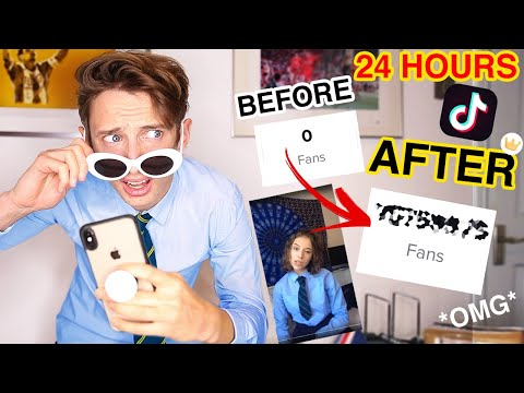 Trying to become Famous on TikTok in 24 HOURS...IT WORKED!! (24 Hour challenge)