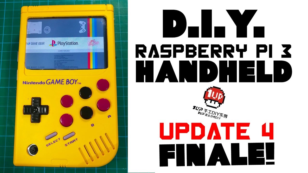 DIY Rasberry Pi 3 Handheld with the 1up board - update 4