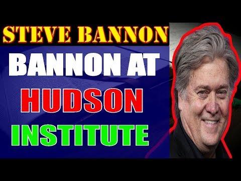 Steve Bannon ❤Bannon at Hudson Institute;November 04,2017