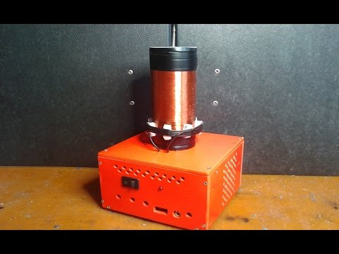 Audio Teslaspule selber bauen  mit Relaisdraht