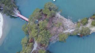 日本三景宮城県の松島海岸を空から撮影。松島湾内から一帯を一望。 -~-~...