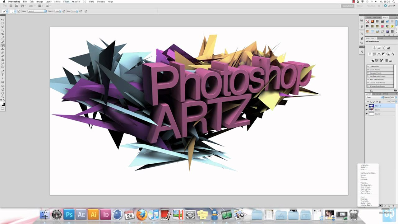 Abstract wallpaper erstellen photoshop tutorial teil 2 2 youtube - Wallpaper erstellen ...