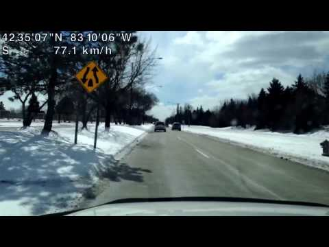Driving from Rochester Hills, Michigan to Troy, Michigan