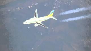 [空撮] 旅客機同士 上空での追い越し