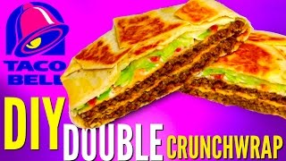 TACO BELL DOUBLE CRUNCHWRAP DIY | How To Make Fast Food