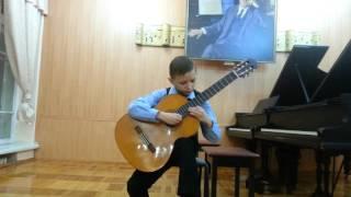 """Людвиг Ван Бетховен """"Лунная соната"""". Черницын Леонид 10 лет. Гитара"""