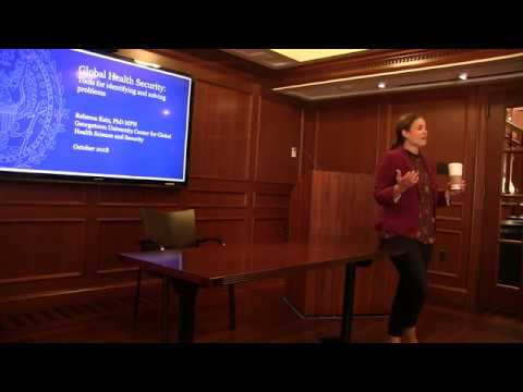 CSS Lunch Series | Global Health Security ft. Dr Rebecca Katz