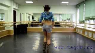 Видео уроки танца живота: Ковбойский танец (2 часть спиной)