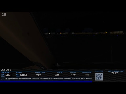 [Prepar3D v4 64 bits] B777-200ER / SBGR-SBFZ Voo Completo (off-line)