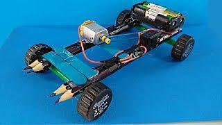 как сделать самодельную машину с мотором