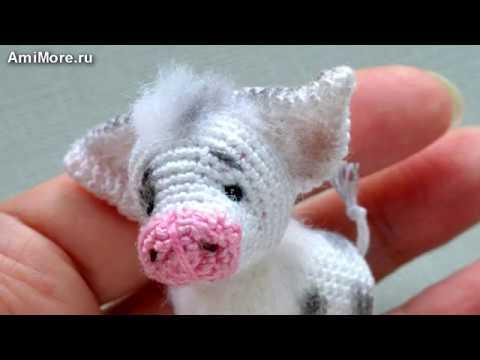 Амигуруми: схема Поросёнка. Игрушки вязаные крючком – Free crochet patterns.