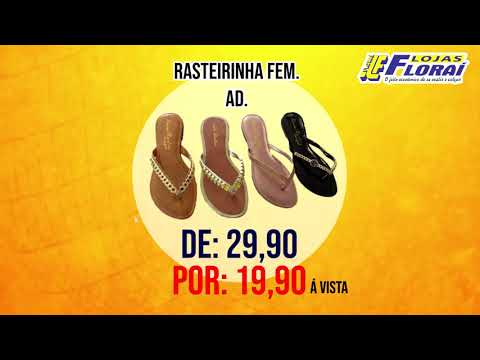 Mega Liquidação de calçados em Lojas Floraí, descontos de 20 a 50% á vista.