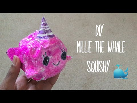 DIY Millie The Whale Duct Tape Squishy (Step by step)| Ketchup DIY
