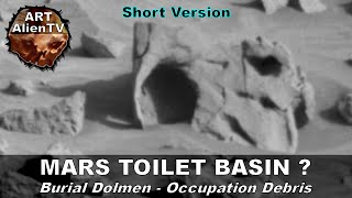 LIFE ON PLANET MARS - TOILET BASIN & OUTFLOW PIPE ? ArtAlienTV (2min Version)