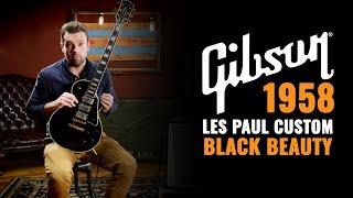 1958 Gibson Les Paul Custom Black Beauty | Vintage Guitar Demo