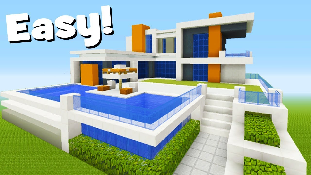 Minecraft Tutorial: How To Make A Modern Mansion #2 - YouTube