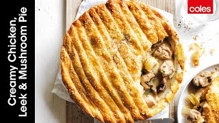 Creamy Chicken, Leek \u0026 Mushroom Pie