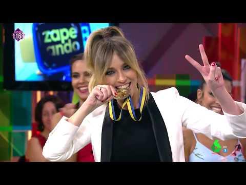 Anna Simon, ganadora de Zapeando en lanzamiento de hueso de aceituna thumbnail