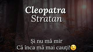 Cleopatra Stratan - Adio Versurilyrics