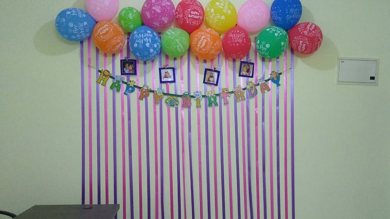 Simple And Beautiful Birthday Decoration Ideas For