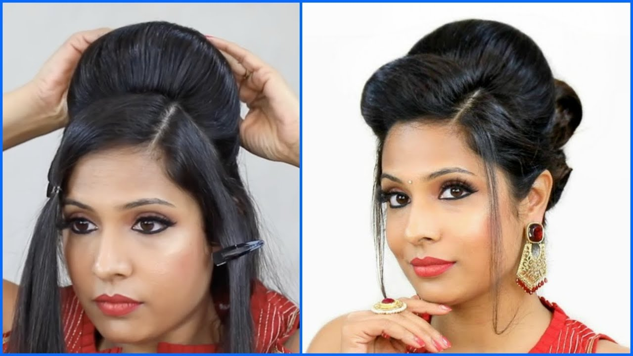 perfect high puff hairstyle | indian wedding/party/function | shruti arjun anand
