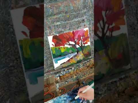 Expressionist Loose Landscape Painting Demo