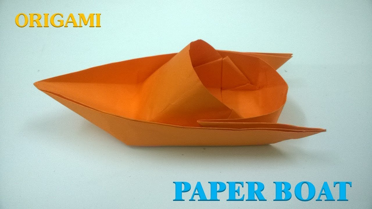 how to make a paper boat origami tutorial canoe youtube