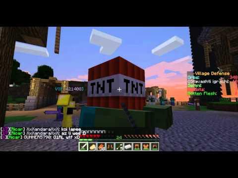 Minecraft Village Defense.