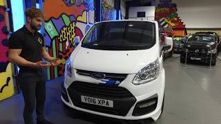 Frozen White Ford Transit Custom M-Sport Double Cab Comes To Leighton Vans HQ Walkaround For Sale