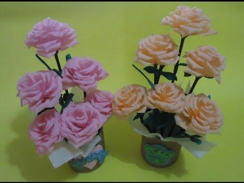 Arreglo Floral Con Flores De Papel Pumitanegraart Youtube