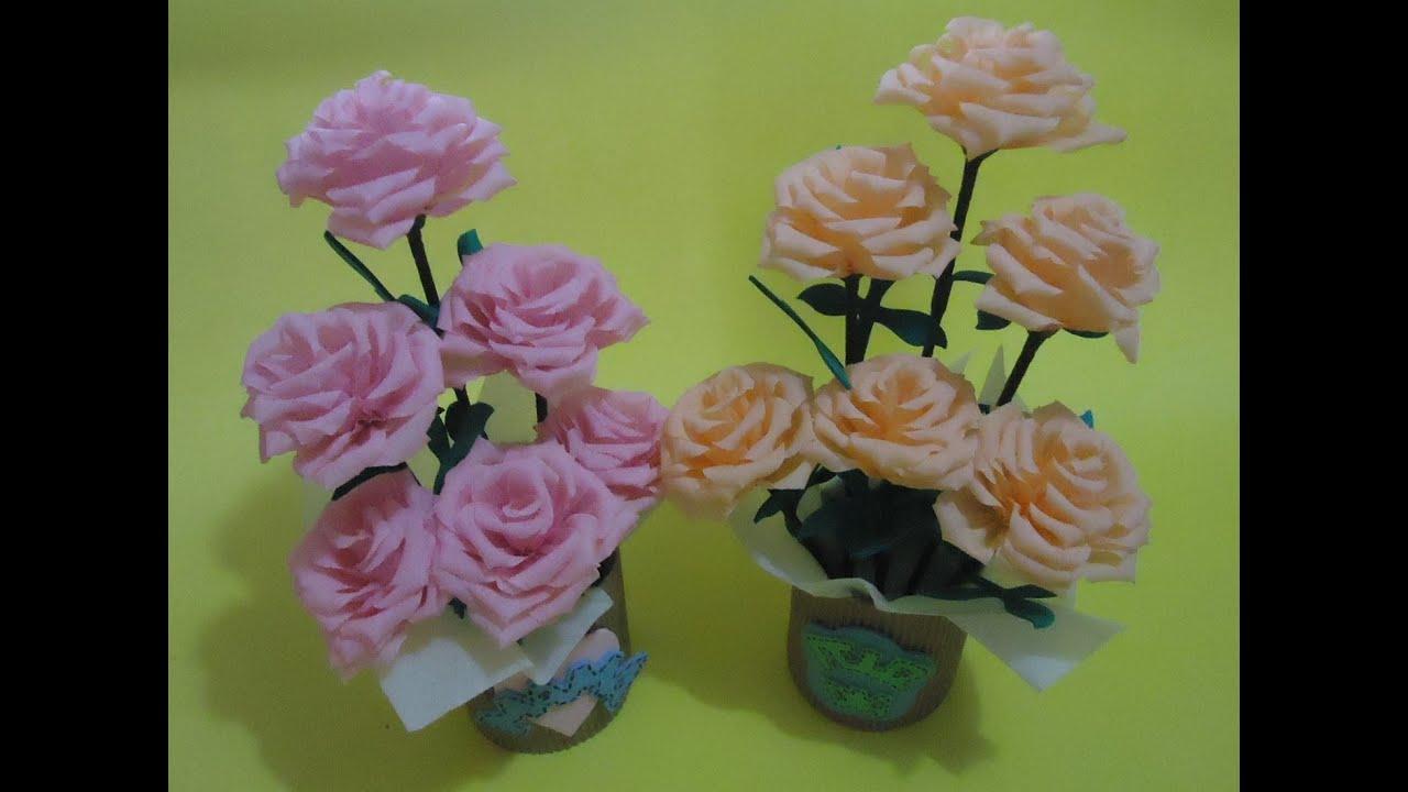 Arreglo floral con flores de papel | PumitaNegraArt