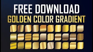 How to Download - Golden Color Gradient - Frist Time in CDR File