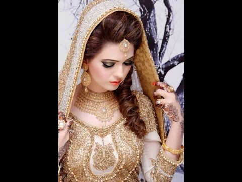 Stylish Bridal Pakistani Wedding Hair Styles And Makeup Ideas Tips