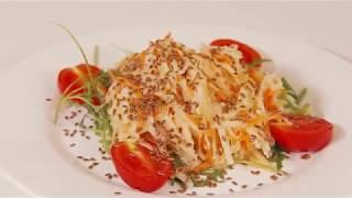 Готовим салат из кольраби с чесноком
