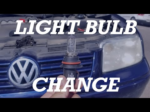 How to Replace / Change a Volkswagen Jetta Headlight bulb 1999 2000 2001 2002 2005 VW Mark 4