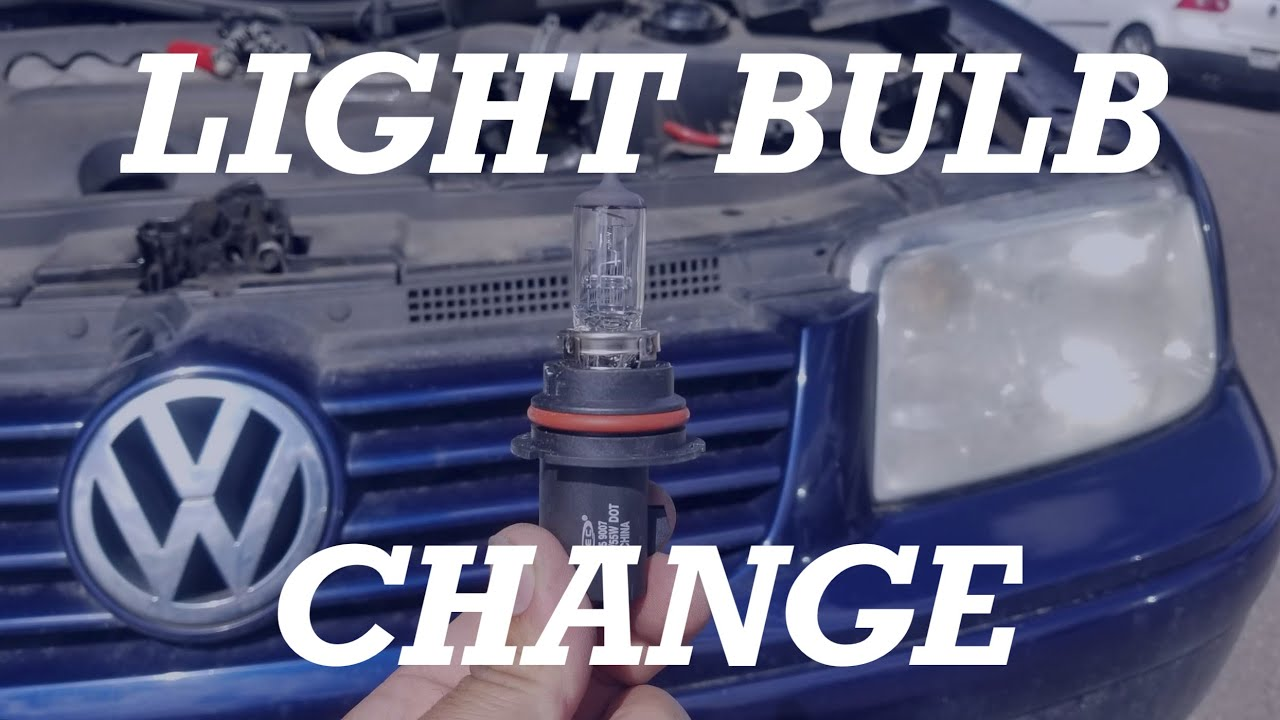 How To Replace Change A Volkswagen Jetta Headlight Bulb 1999 2000 2001 2002 2005 Vw