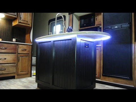 how to add an undersink led strip light to your rv