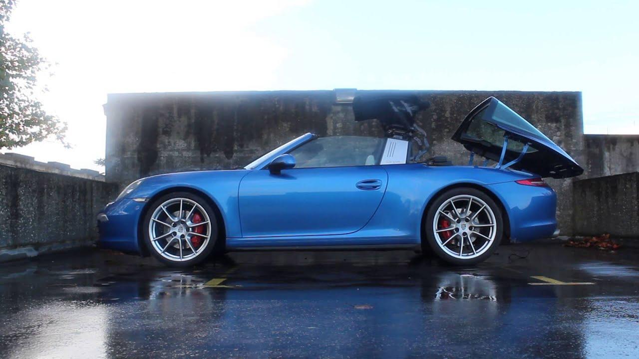 Porsche 911 991 Targa Roof Operation