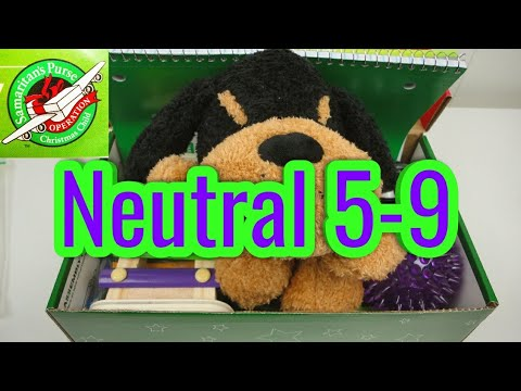 Operation Christmas Child Shoebox Boy 5-9, Neutral, Green Theme, Puppy Dog, Xylophone, Spike Ball