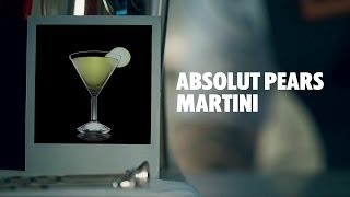 Absolut Pears Martini Drink Recipe - How To Mix