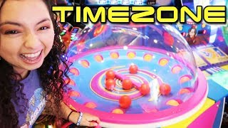 Our first time ever at TIMEZONE Arcade!