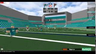 NFL ROBLOX - Falcons vs Dolphins -WE CAN CATCH- Atlanta Touchdown
