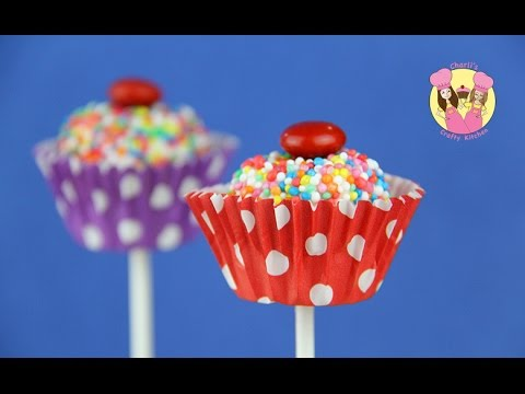 CUPCAKE MARSHMALLOW POPS - Bounce Patrol kids & Charli's Crafty Kitchen baking