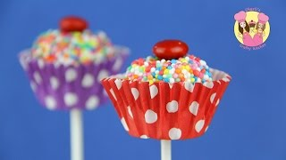 CUPCAKE MARSHMALLOW POPS - Bounce Patrol kids & Charli's Crafty Kitchen baking thumbnail
