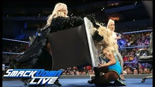 Charlotte Vs Carmella Contract Signing For BACKLASH WWE SmackDown Live Highlights 25th April 2018